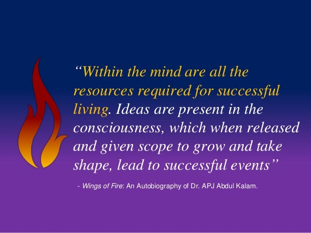 """""""Within the mind are all the  resources required for successful  living. Ideas are present in the  consciousness, which wh..."""