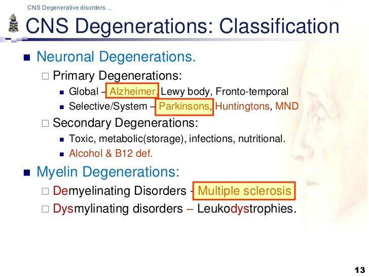 Pathology Of Cns Degenerations Lecture