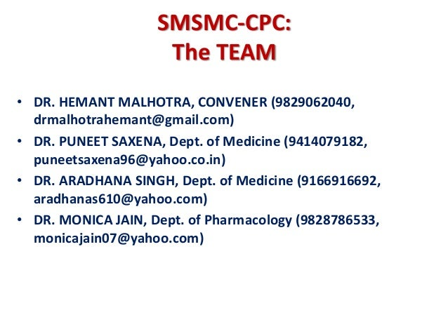 CPC Cardiology Department SMS Medical College Jaipur