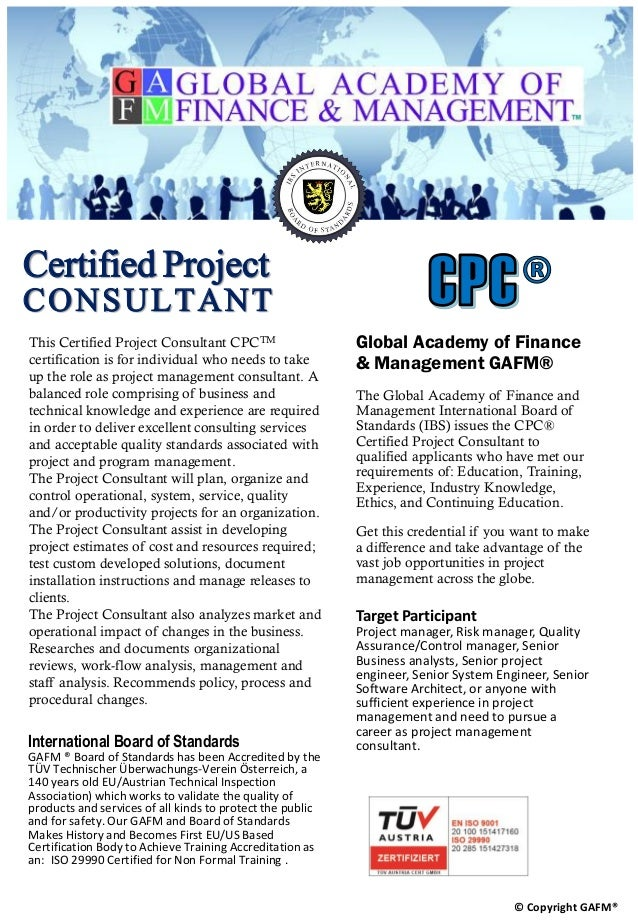 Certified Project Consultant