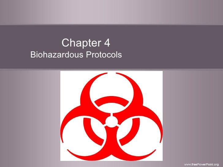 Chapter 4 Biohazardous Protocols