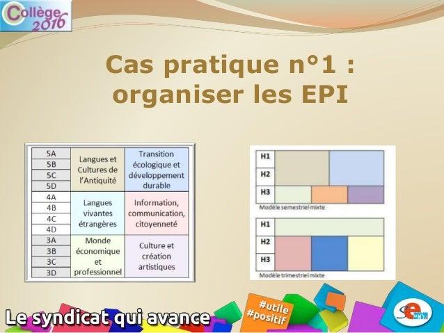 Cas pratique n°1 : organiser les EPI