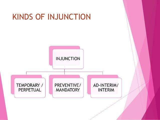 ad interim injunction