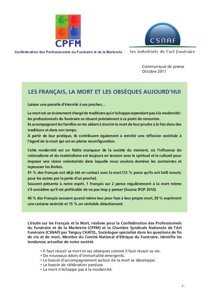 Confédération des Professionnels du Funéraire et de la Marbrerie                                                          ...