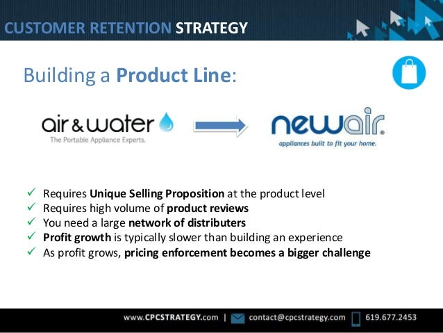 Building a Product Line:  Requires Unique Selling Proposition at the product level  Requires high volume of product revi...