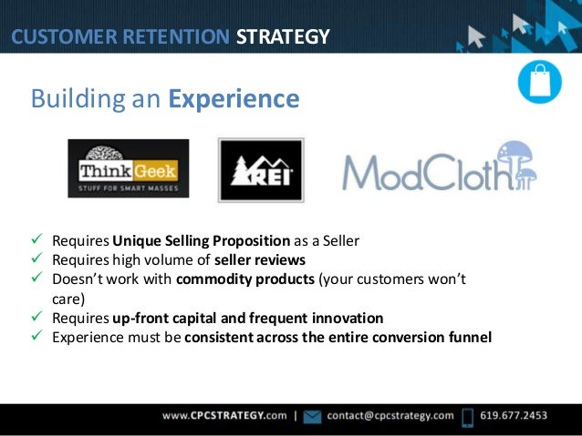 Building an Experience  Requires Unique Selling Proposition as a Seller  Requires high volume of seller reviews  Doesn'...