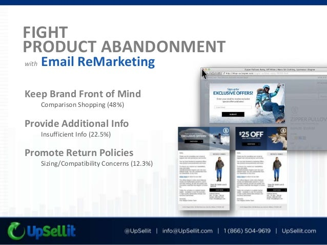 UpSellit, 2013 Product/Shipping Cost Ratio Additional Charges Comparison Shopping Not Ready to Purchase Unclear Return Pol...