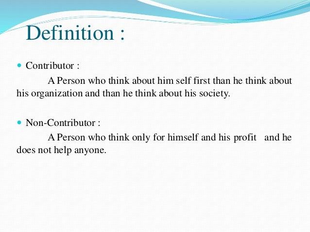 Contributer Personality Development Slide 2