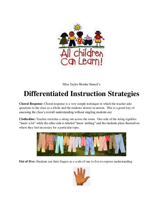 2 Differentiated Instruction Strategies