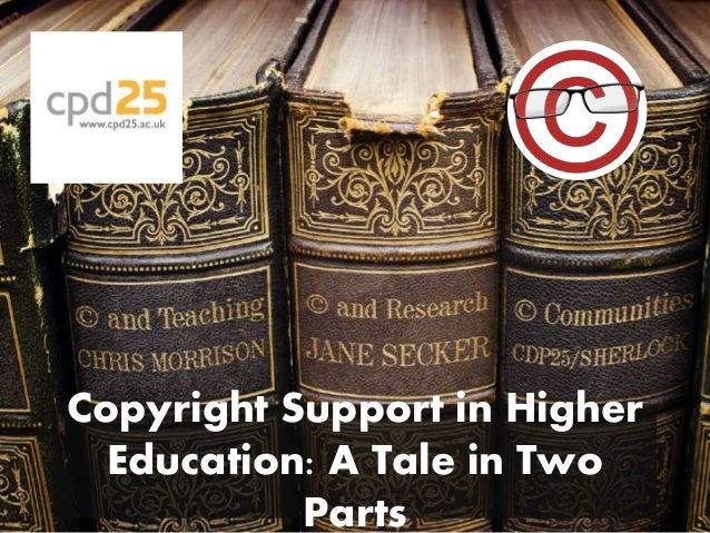 Copyright Support in Higher Education: A Tale in Two Parts