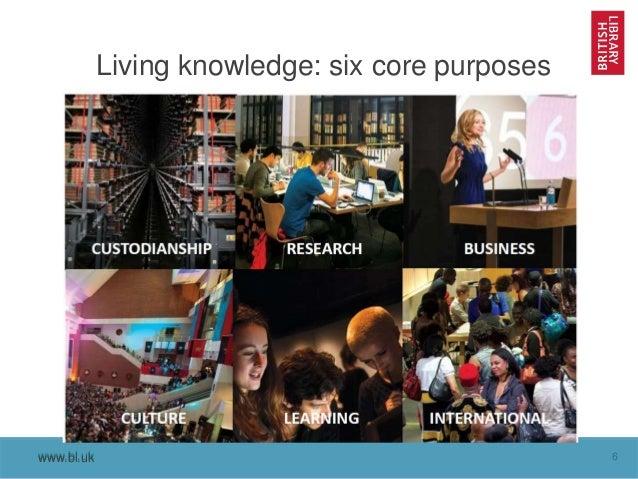 www.bl.uk 6www.bl.uk Living knowledge: six core purposes