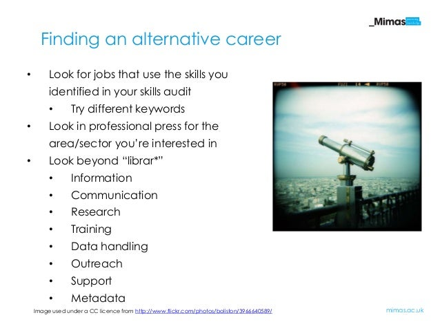 Developing Yourself For An Alternative Career