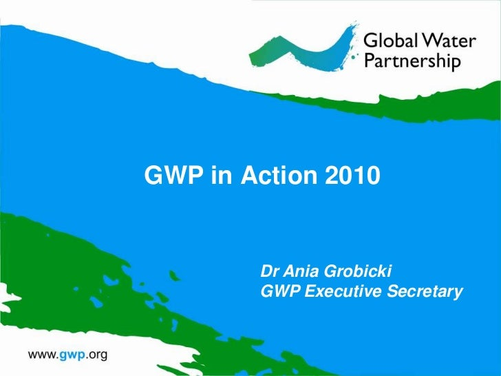 GWP in Action 2010<br />Dr Ania GrobickiGWP Executive Secretary<br />