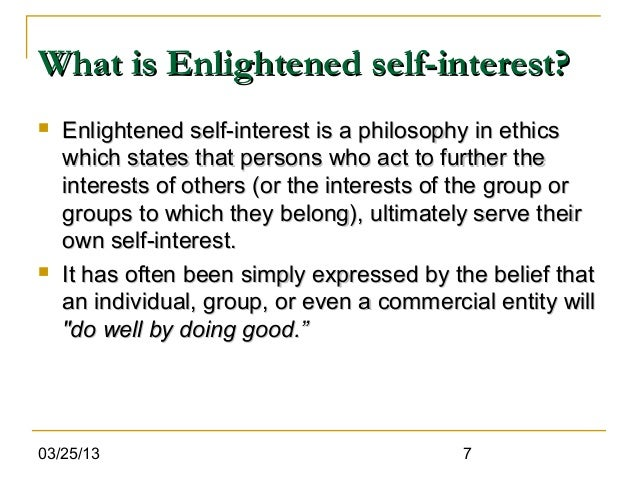 Cpd ch 10 enlightend self interest.