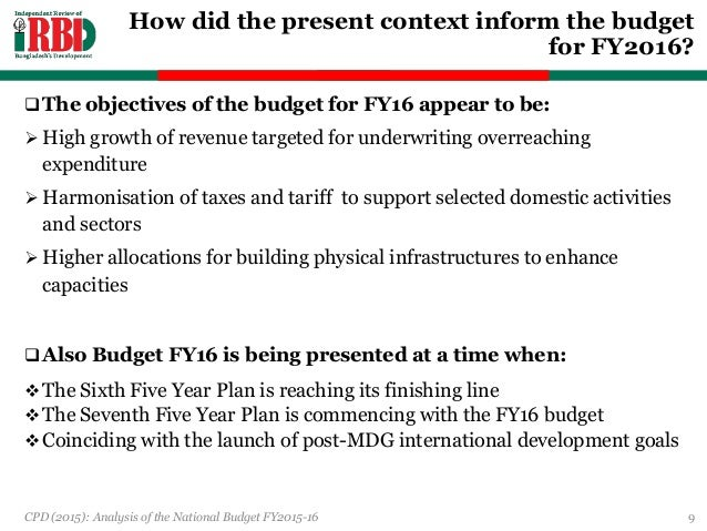 Budget Analysis and Planning