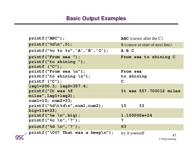 All C Programs With Output Pdf