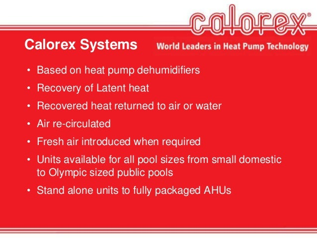 Cpd For Indoor Pools Amp Heat Recovery