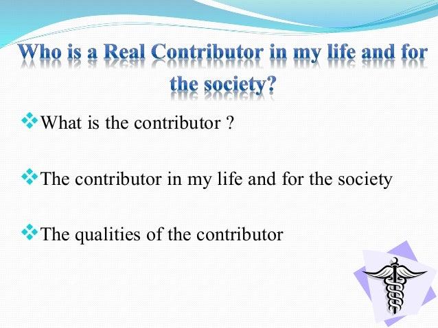 The real contributor........... Slide 2