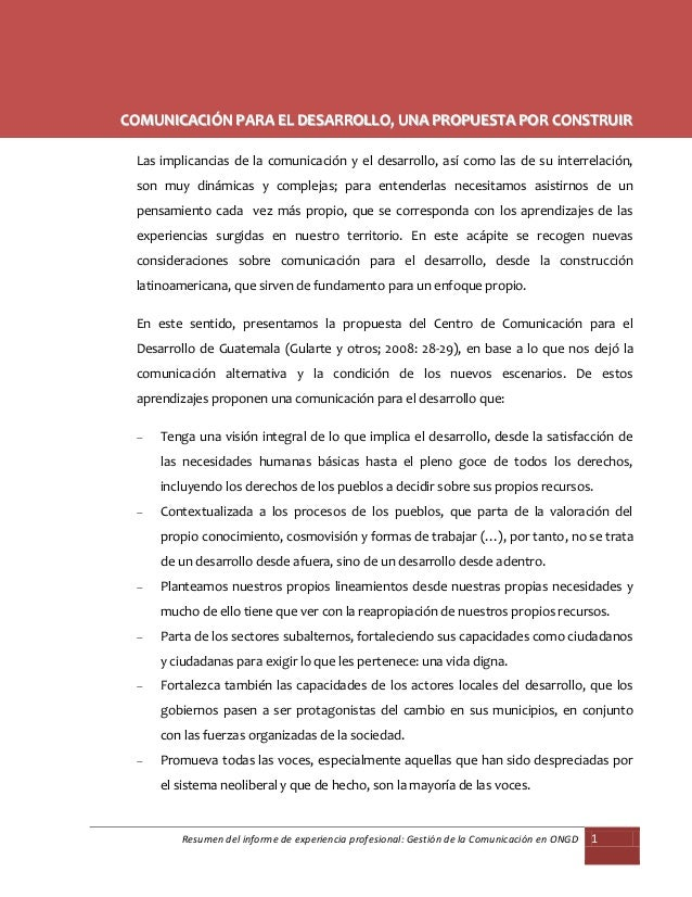 Lic. Eliana Pérez Barrenechea                                     http://illarek-chaska.blogspot.com/COMUNICACIÓN PARA EL ...