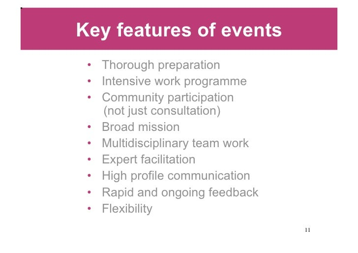 sample programme of events