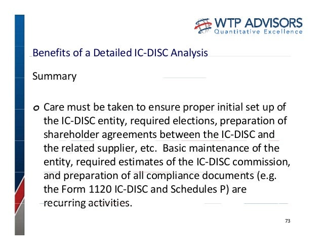 Tax Savings With the IC-DISC: Client CPE Day 2013