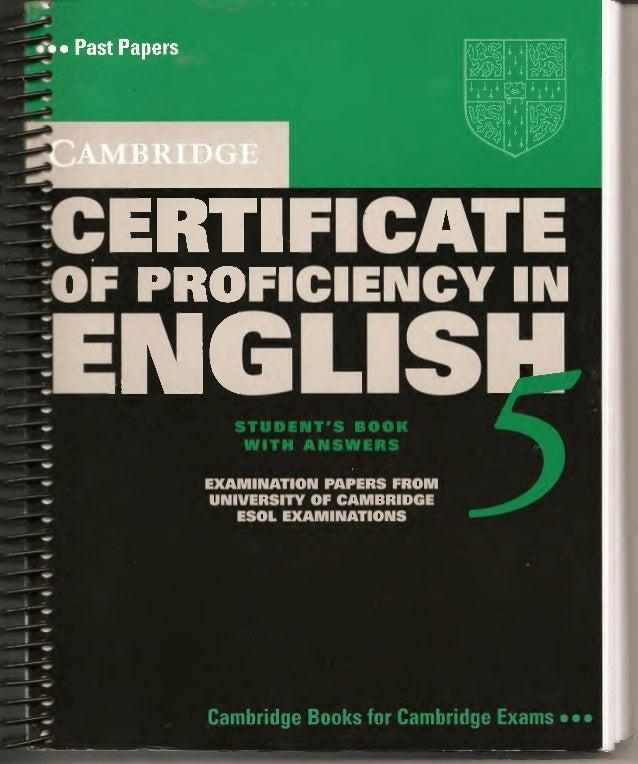 Cpe5 Cambridge Proficiency book