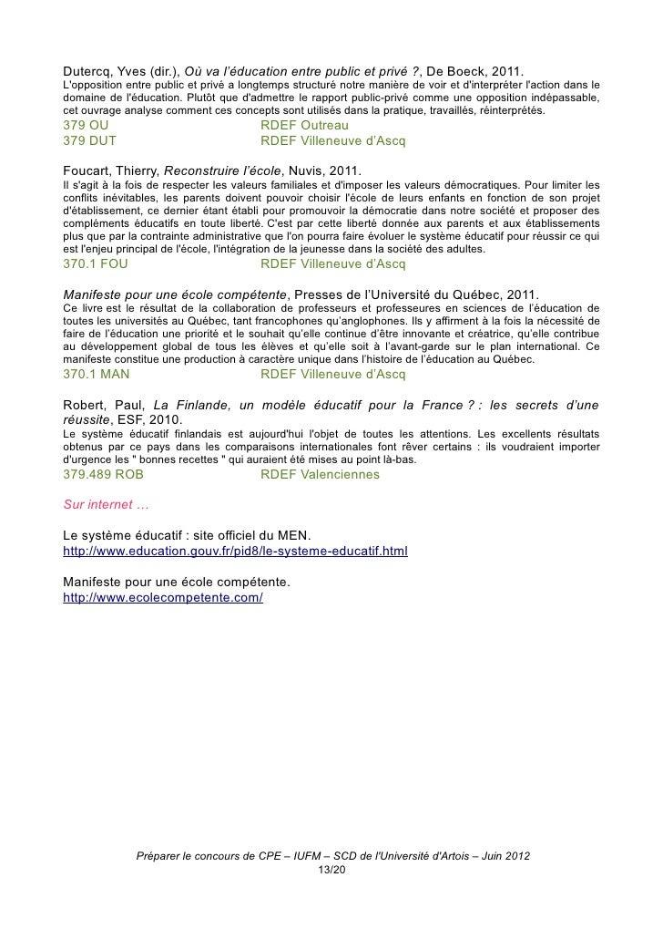 sujet dissertation concours cpe 2011
