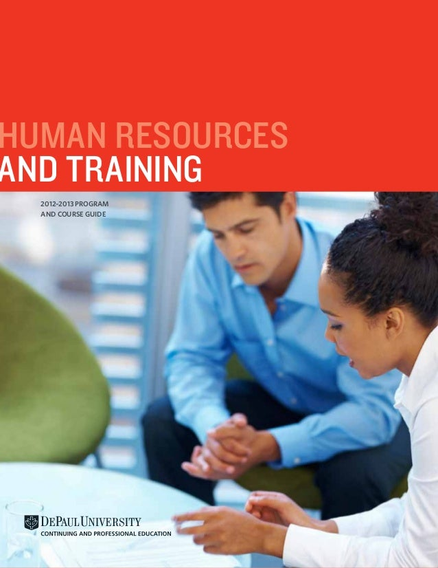 Human ResourcesAnd Training  2012–2013 Program  and Course Guide