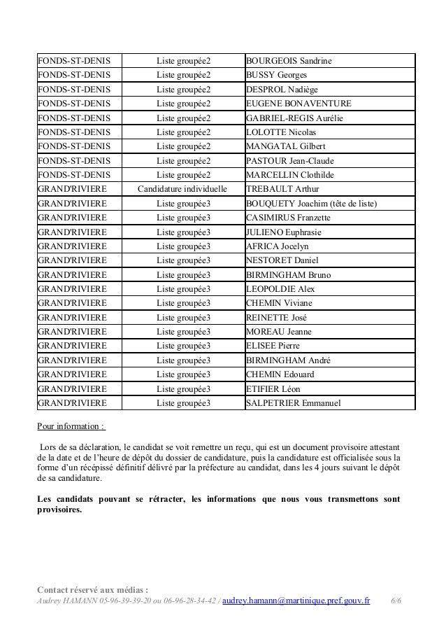 FONDS-ST-DENIS  Liste groupée2  BOURGEOIS Sandrine  FONDS-ST-DENIS  Liste groupée2  BUSSY Georges  FONDS-ST-DENIS  Liste g...