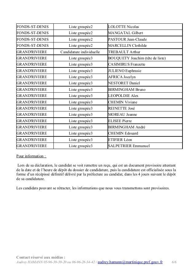 FONDS-ST-DENIS  Liste groupée2  LOLOTTE Nicolas  FONDS-ST-DENIS  Liste groupée2  MANGATAL Gilbert  FONDS-ST-DENIS  Liste g...