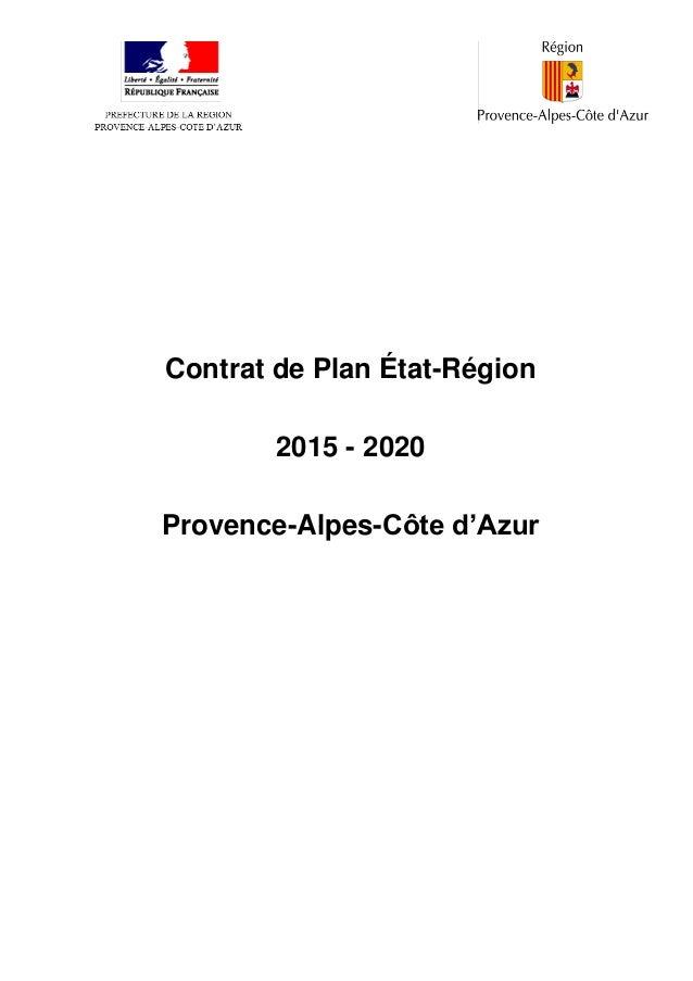 Contrat de Plan État-Région 2015 - 2020 Provence-Alpes-Côte d'Azur