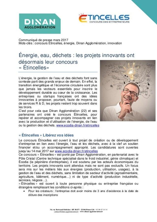 34, rue Bertrand Robidou - BP 56357 - 22106 Dinan Cdx - 02 96 87 14 14 contact@dinan-agglomeration.fr - www.dinan-agglomer...