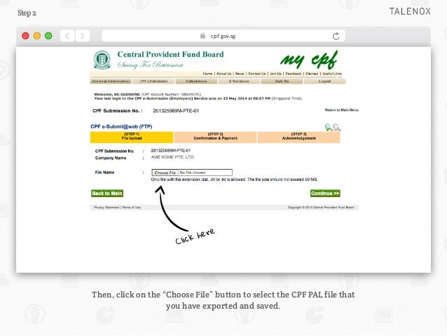 Guide to CPF File Upload for Singapore Payroll Slide 3