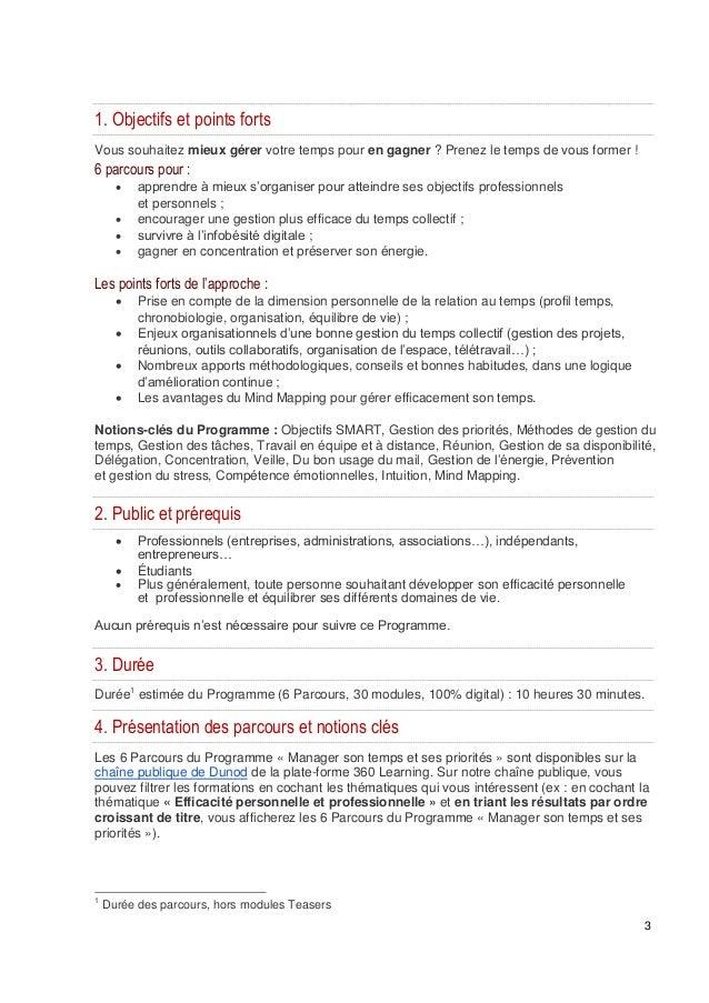 formation digitale dunod manager son temps et ses priorites Slide 3