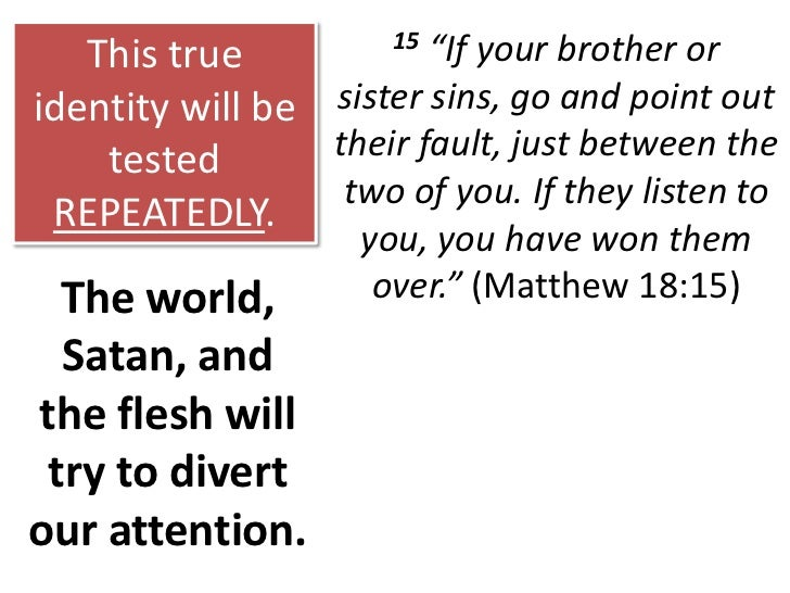 When Christians do not know who they are in Christ, they will forever remain self-centered.<br />The real solution to this...