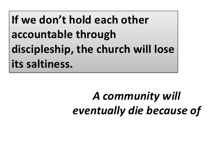 Discipleship is all about reminding and challenging people to always live in the truth of who they are in Christ.<br />Thi...
