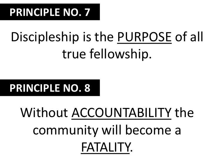 If we don't hold each other accountable through discipleship, the church will lose its saltiness.<br />When Christians liv...