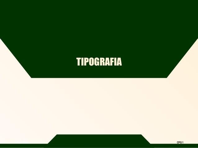 Prof. Mário CPG 1 TIPOGRAFIA