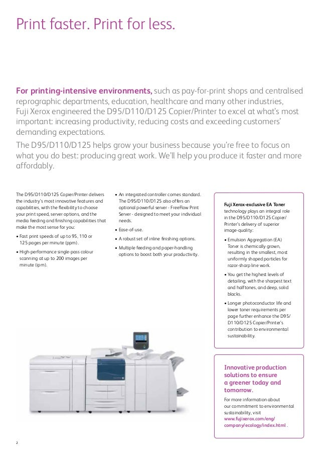 D95 / D110 / D125 Copier / Printer