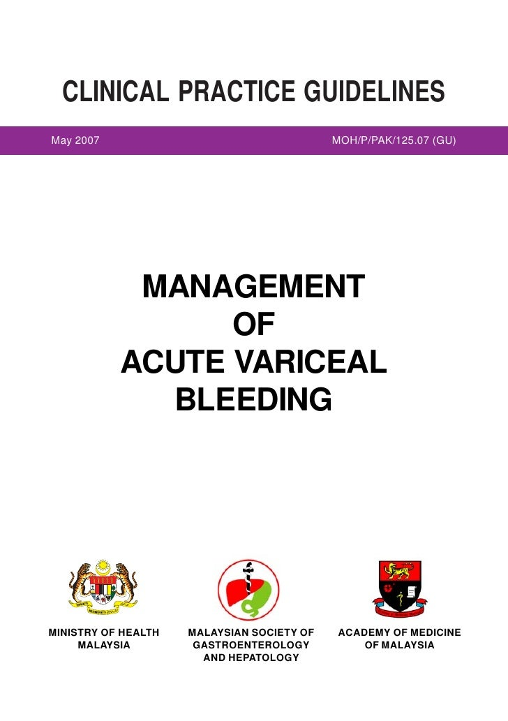 CLINICAL PRACTICE GUIDELINES May 2007                                                                   MOH/P/PAK/125.07 (...