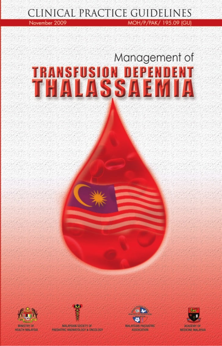 Management of Transfusion Dependent ThalassaemiaGUIDELINES DEVELOPMENTThe development group for these guidelines consisted...
