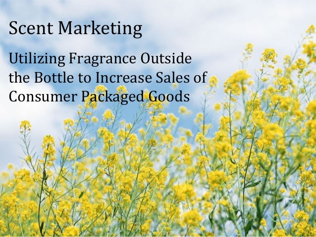 Scent Marketing Utilizing Fragrance Outside the Bottle to Increase Sales of Consumer Packaged Goods