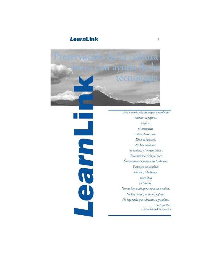 LearnLink                                         1Preservación de la cultura    maya con ayuda de la               tecnol...