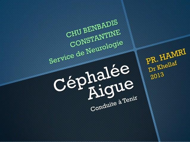 Céphalée Aigue