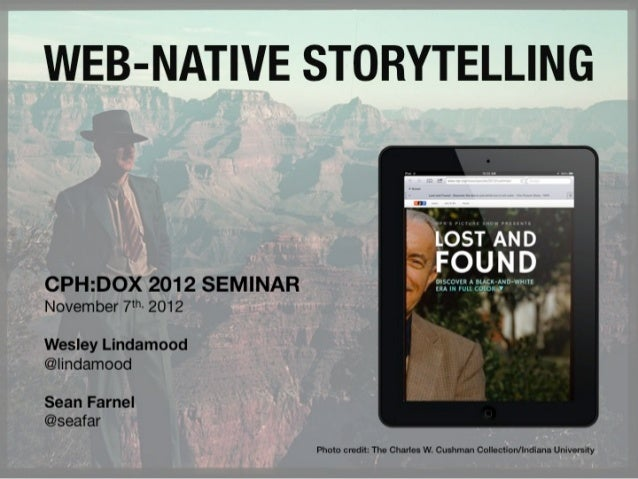 Web-native storytelling