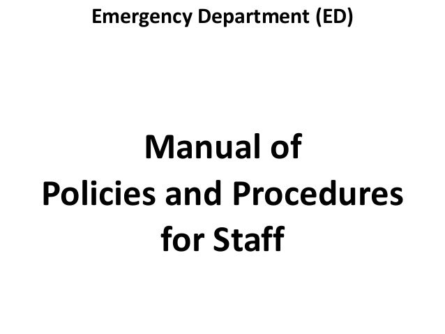 Organization and Management of the Emergency Room of a Hospital