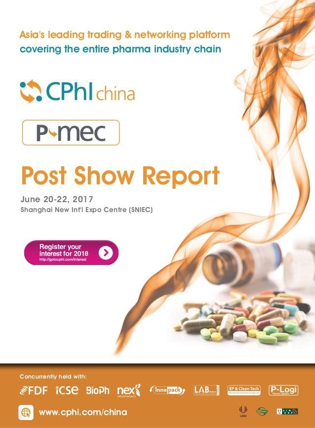 CPhI China & P-MEC China Post Show Report 2017