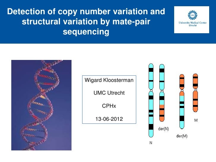 Detection of copy number variation and   structural variation by mate-pair              sequencing                  Wigard...