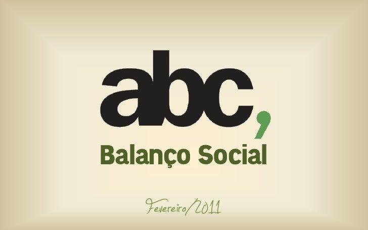 Balanço Social   Fevereiro/2011
