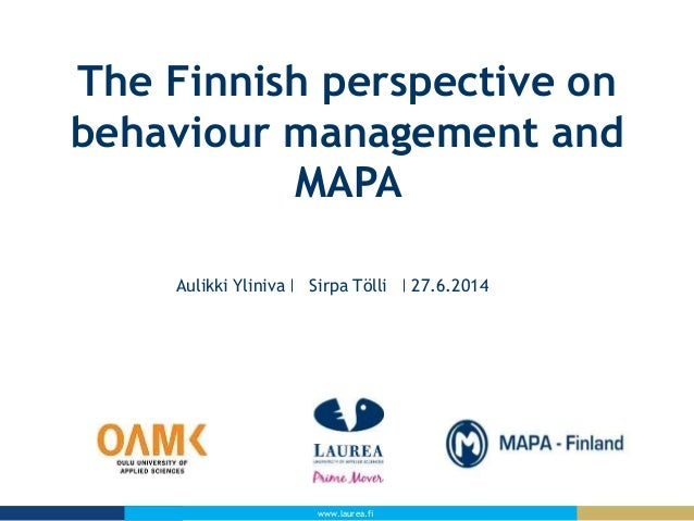 Aulikki Yliniva, Laurea University of Applied Science. RR conference